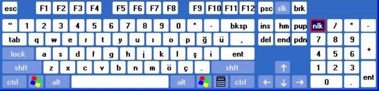 klavyedeki tuşlar ve görevleri