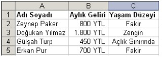 Excel Örnek Ugulama